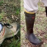 Picture of rubber boots to minimise tick exposure